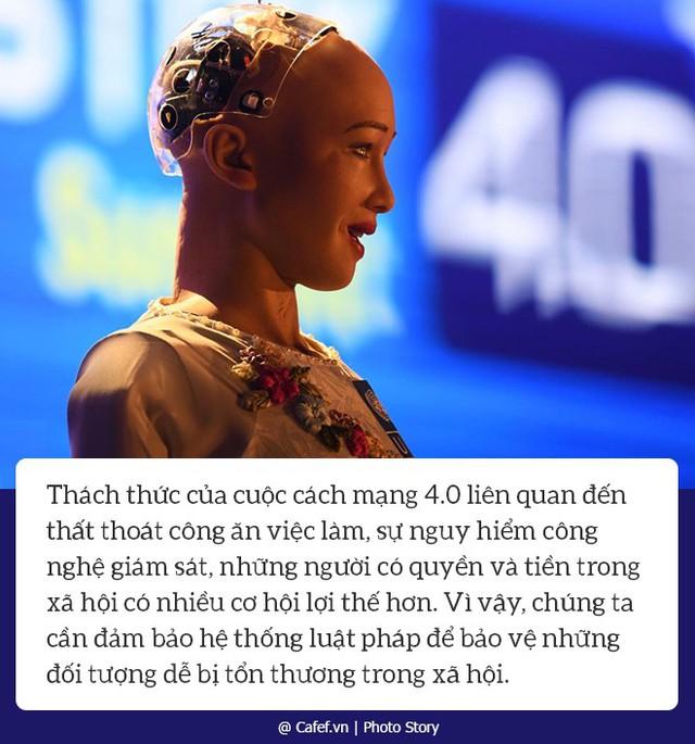 Robot Sophia nói gì về nhữngh mạng công nghiệp 4.0 ở Việt Nam? - Ảnh 1.