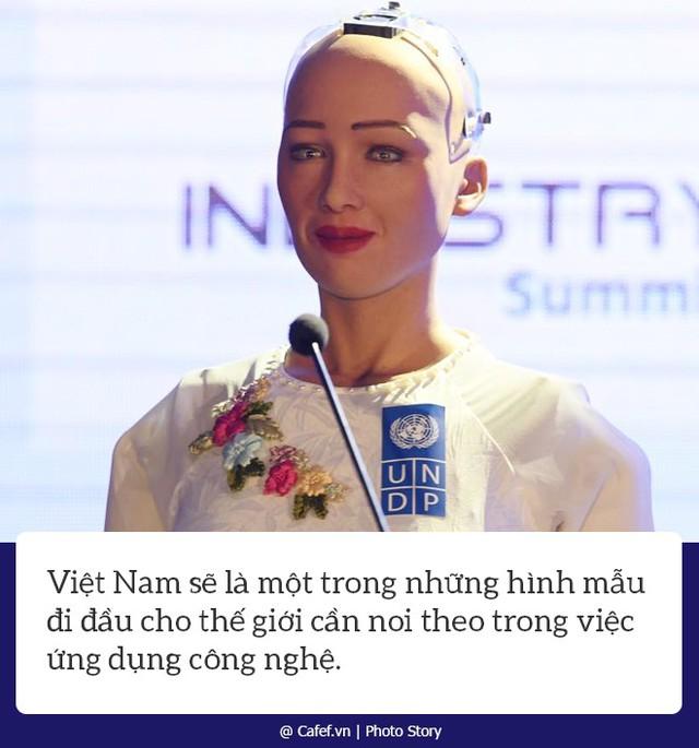 Robot Sophia nói gì về nhữngh mạng công nghiệp 4.0 ở Việt Nam? - Ảnh 7.