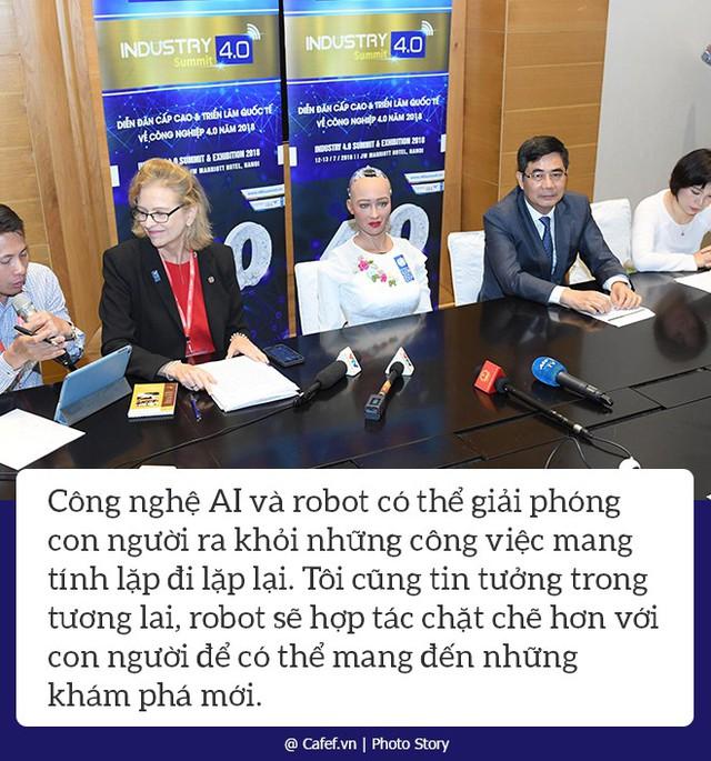Robot Sophia nói gì về nhữngh mạng công nghiệp 4.0 ở Việt Nam? - Ảnh 5.