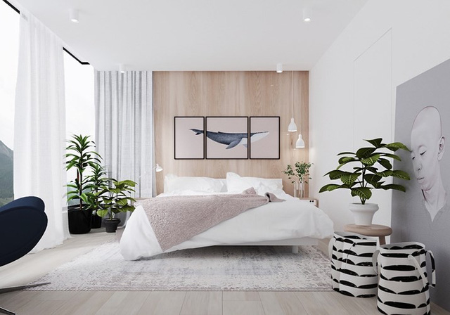 Phòng ngủ trang trí tối giản mà vẫn đẹp tân tiến - Ảnh 2.