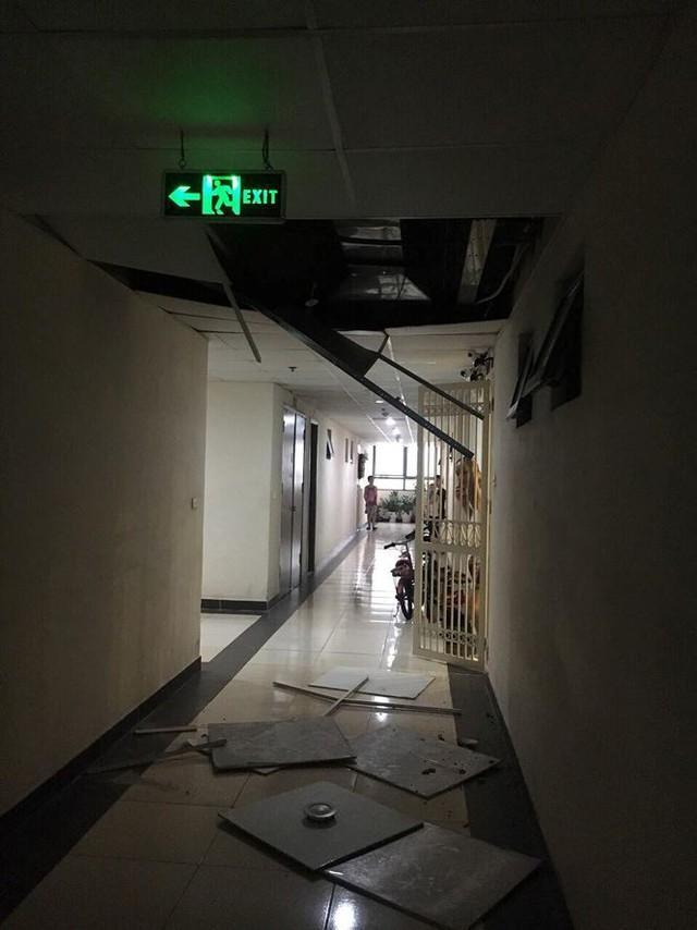 Chung cư Tân Tây Đô: Sau rơi gạch ốp tường là sập trần thạch cao - Ảnh 1.