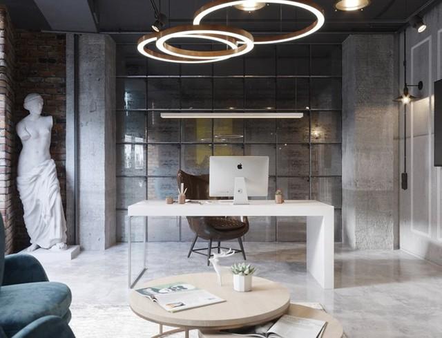 Ý tưởng trang trí phòng làm việc ở nhà hiện đại, phong cách - Ảnh 5.