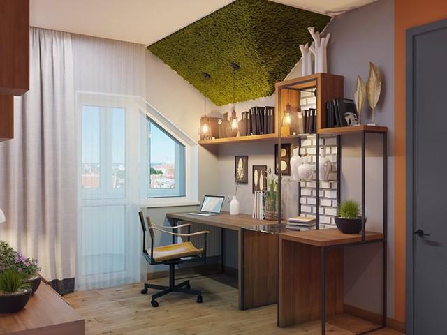 Ý tưởng trang trí phòng làm việc ở nhà hiện đại, phong cách - Ảnh 6.