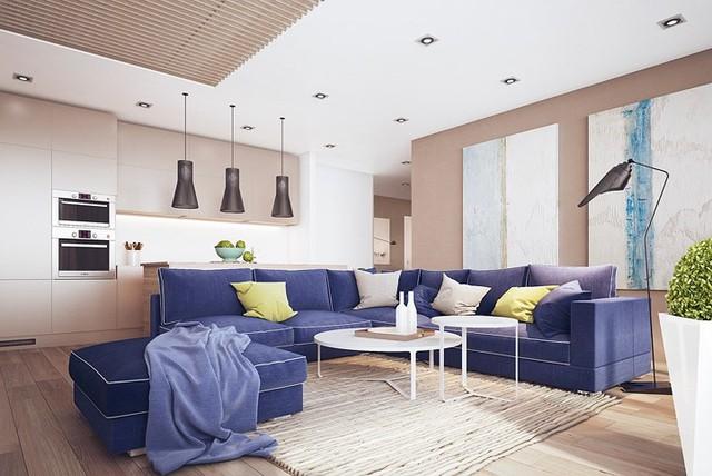 Nội thất nhà có màu sắc sống động tạo ấn tượng đẹp mắt - Ảnh 1.