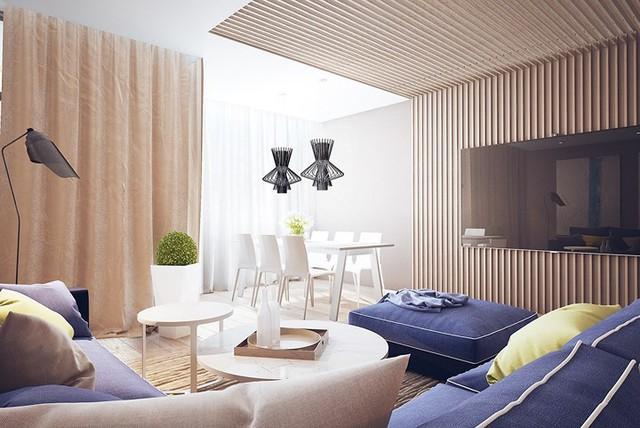 Nội thất nhà có màu sắc sống động tạo ấn tượng đẹp mắt - Ảnh 2.