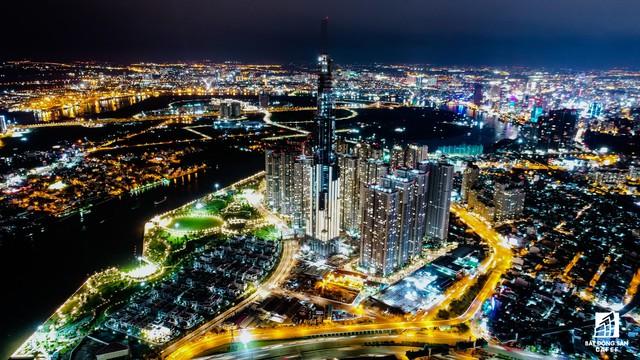 Tòa nhà cao nhất Việt Nam lung linh về đêm giữa Sài Gòn - Ảnh 5.