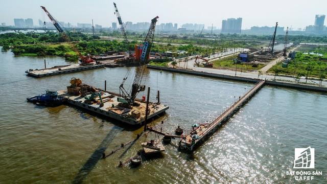 Toàn cảnh dự án cầu Thủ Thiêm 2 đang xây dựng nối khu trung tâm Quận 1 với KĐT Thủ Thiêm - Ảnh 7.