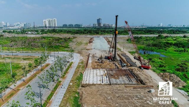 Toàn cảnh dự án cầu Thủ Thiêm 2 đang xây dựng nối khu trung tâm Quận 1 với KĐT Thủ Thiêm - Ảnh 11.