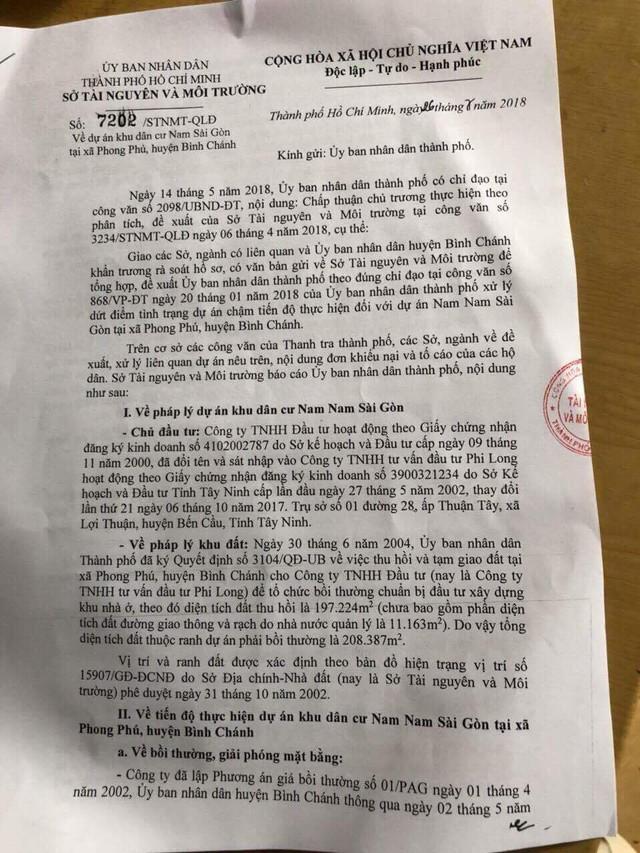 Một dự án bất động sản ở khu Nam Sài Gòn 14 năm chưa thực hiện, chủ đầu tư bị tố có hành vi lừa đảo - Ảnh 1.