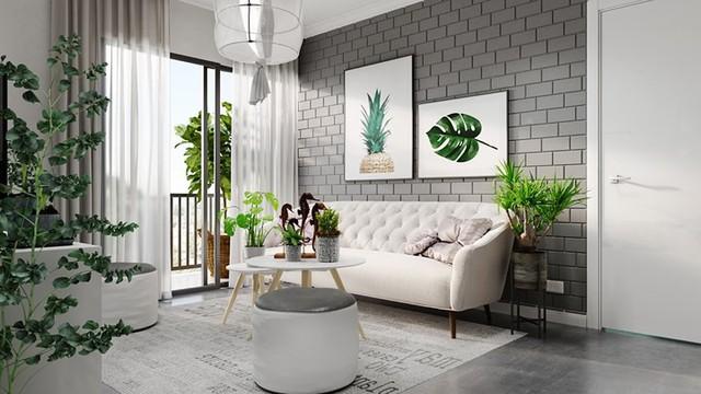 Căn hộ đẹp lạ được trang trí bằng hai màu sắc xám và trắng - Ảnh 2.