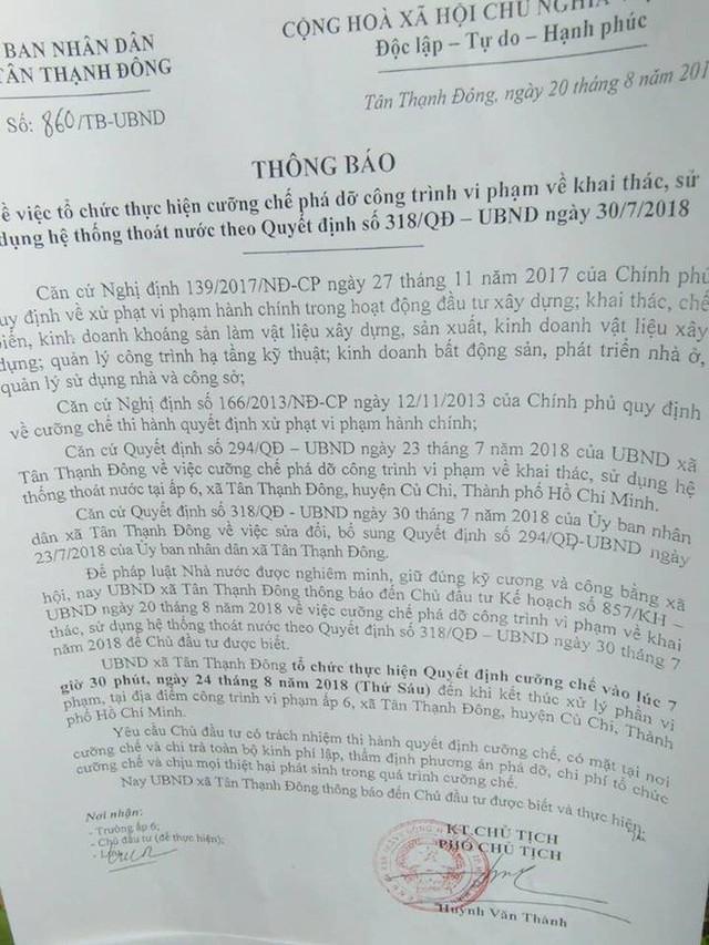 Vụ bỏ 200 triệu làm đường giúp dân ở Sài Gòn: Xã quyết định phá bỏ con đường - Ảnh 1.