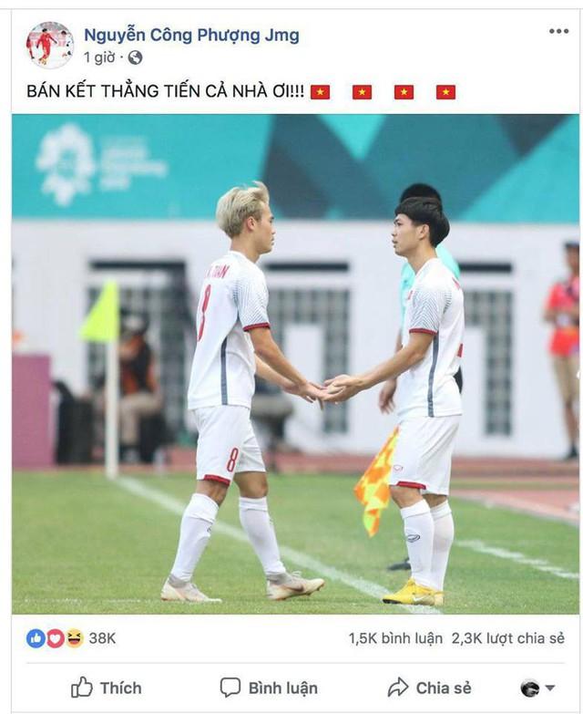 Văn Toàn, Công Phượng... mừng chiến thắng tưng bừng trên facebook - Ảnh 2.