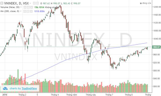 Phiên chuyển nhượng cuối tuần, VN-Index sẽ vượt mốc 1.000 điểm? - Ảnh 1.