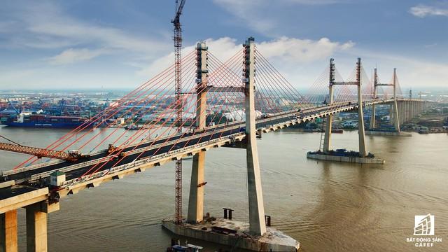 Một ngày trước khi thông xe, nhìn toàn cảnh xa lộ Hạ Long - Hải Phòng và cầu Bạch Đằng gần 15 nghìn tỷ từ trên cao - Ảnh 15.