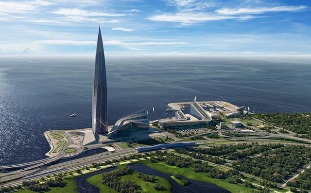 Ảnh: Chóng mặt có tòa tháp cao nhất châu Âu sắp đã đi vào hoạt động ở Nga - Ảnh 4.