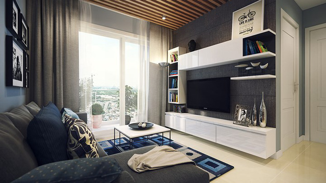 Căn hộ 66 m2 được kiến trúc hợp lý cho gia đình 3 thành viên - Ảnh 2.