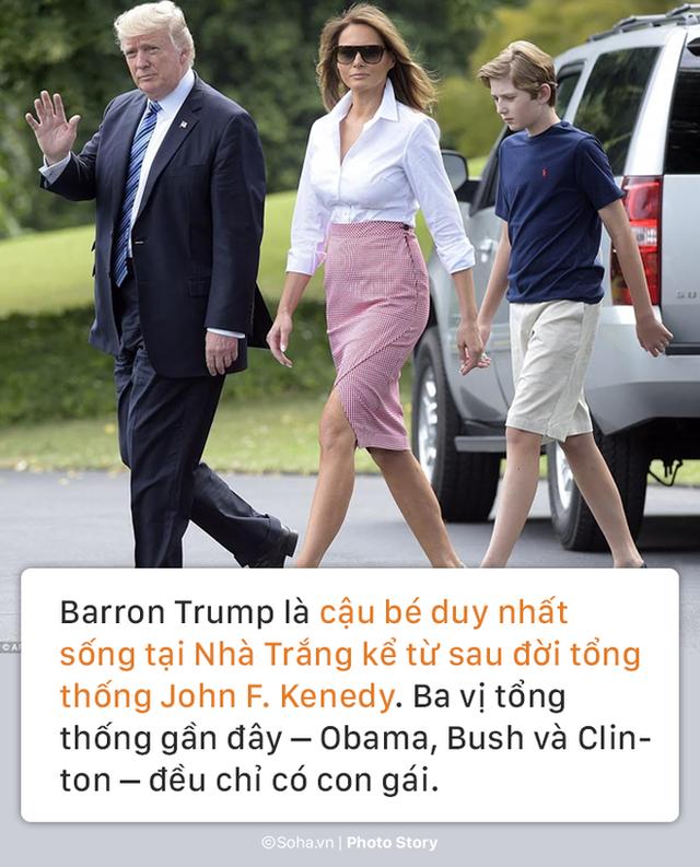 [PHOTO STORY] Con trai út của TT Trump: Thích vest, hay chơi golf, 12 tuổi cao gần 1,9m - Ảnh 7.