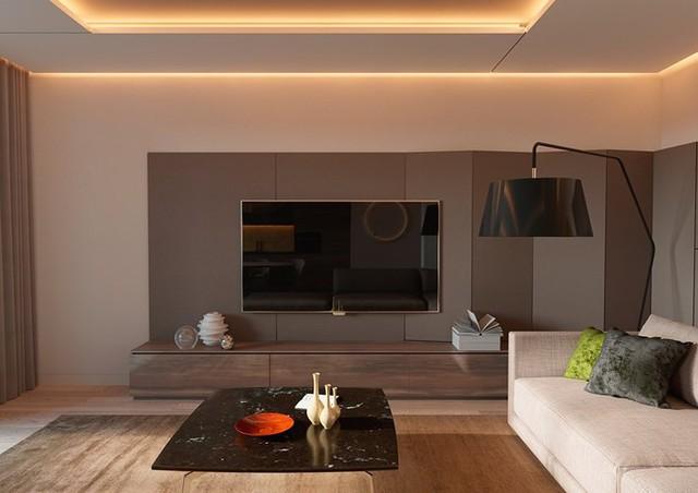 Thiết kế đèn âm tường giúp căn hộ trở nên lung linh - Ảnh 1.