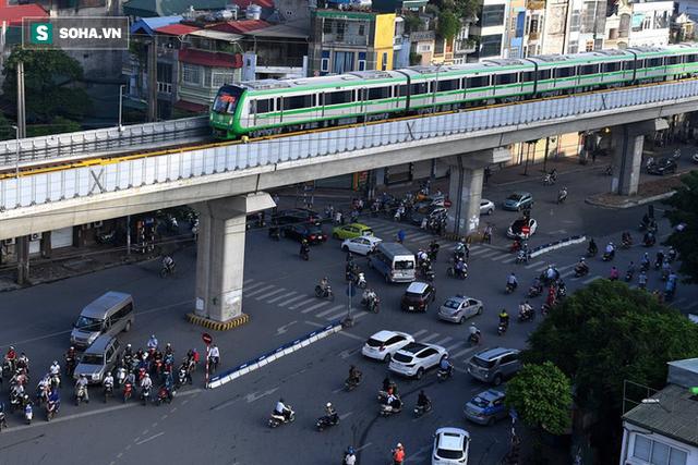 13 đoàn tàu đường sắt Cát Linh - Hà Đông đang chạy thử trong sáng nay - Ảnh 14.