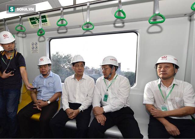 13 đoàn tàu đường sắt Cát Linh - Hà Đông đang chạy thử trong sáng nay - Ảnh 5.