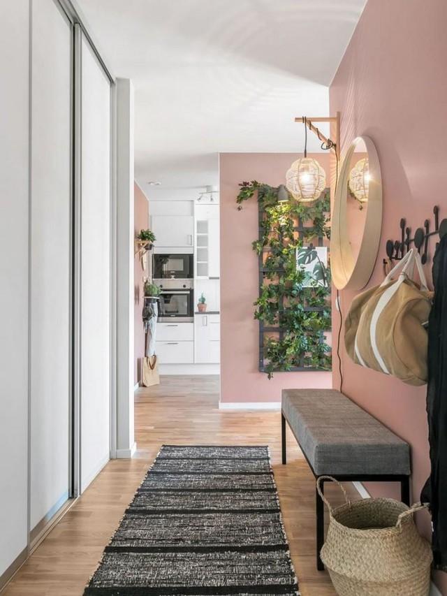 Căn hộ 2 phòng ngủ thiết kế ấn tượng với gam màu hồng cho những gia đình trẻ - Ảnh 1.