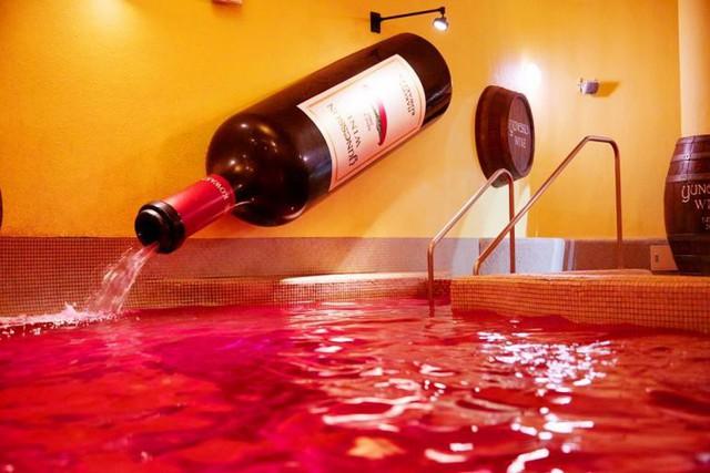 Trải nghiệm du lịch mới lạ: Bạn có thể tắm trong rượu vang hoặc trà xanh tại công viên giải trí suối nước nóng này ở Nhật Bản - Ảnh 2.