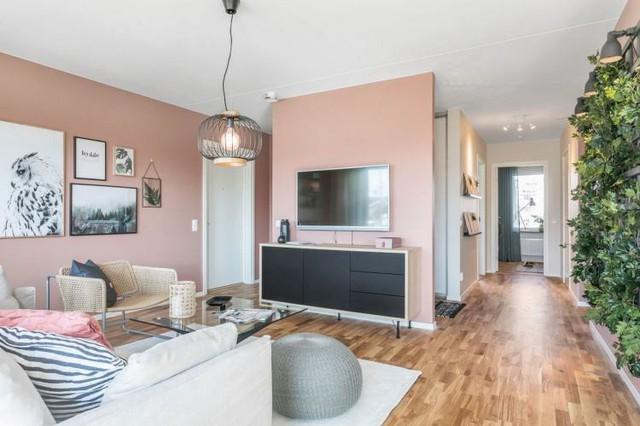 Căn hộ 2 phòng ngủ thiết kế ấn tượng với gam màu hồng cho những gia đình trẻ - Ảnh 3.