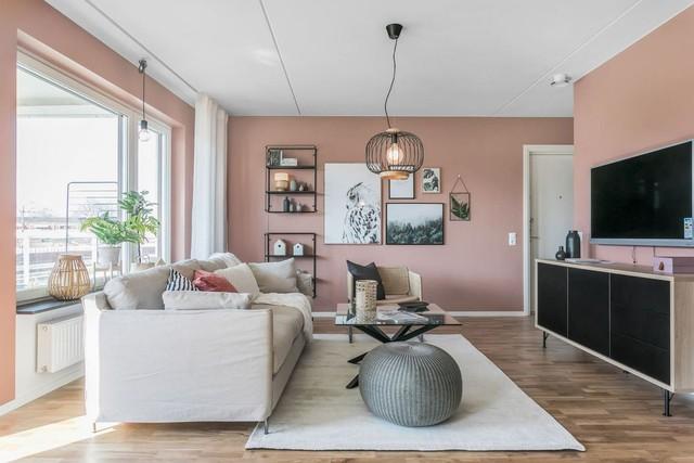 Căn hộ 2 phòng ngủ thiết kế ấn tượng với gam màu hồng cho những gia đình trẻ - Ảnh 4.