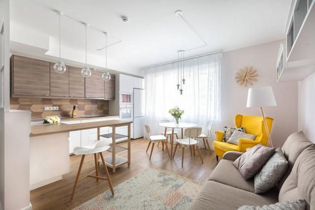 Căn hộ 2 phòng ngủ được bố trí nội thất tiện nghi, sang trọng dành cho những gia đình trẻ - Ảnh 1.