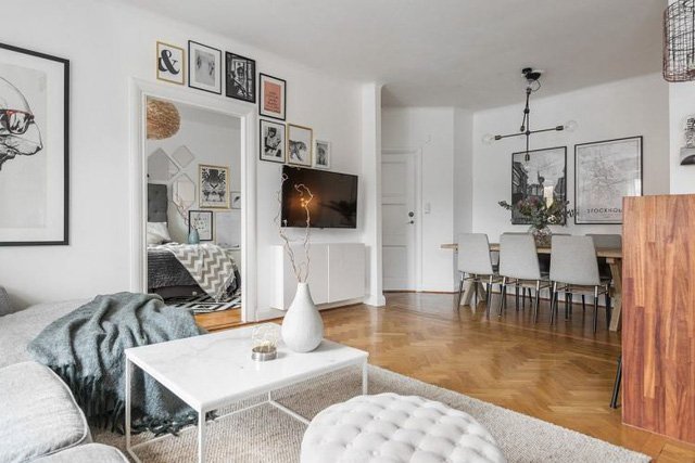 Học cách thiết kế căn hộ 66m2 tiên tiến, tiện nghi cho gia đình trẻ - Ảnh 11.