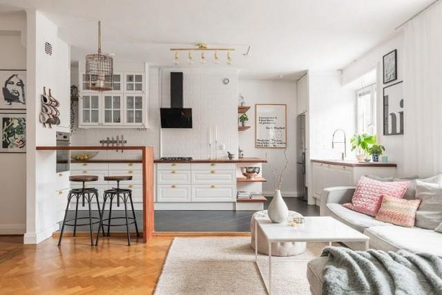 Học cách thiết kế căn hộ 66m2 tiên tiến, tiện nghi cho gia đình trẻ - Ảnh 3.