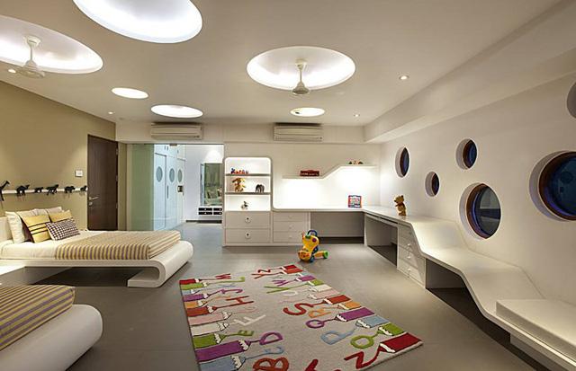 Ngôi nhà có thiết kế hiện đại, sáng tạo - Ảnh 7.