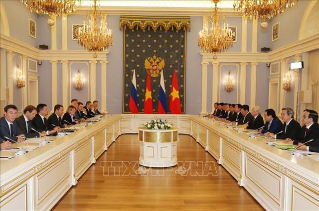 Tổng Bí thư hội kiến Thủ tướng Liên bang Nga - Ảnh 1.