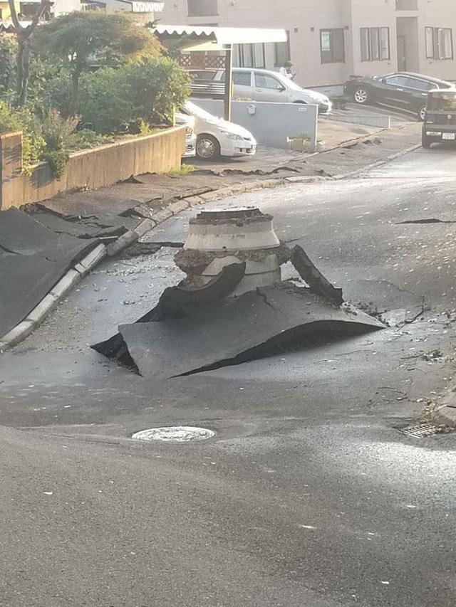 Hình ảnh: Nhật Bản hoang tàn, đổ nát sau liên tiếp siêu bão Jebi và động đất 6 độ Richter ở Hokkaido - Ảnh 7.