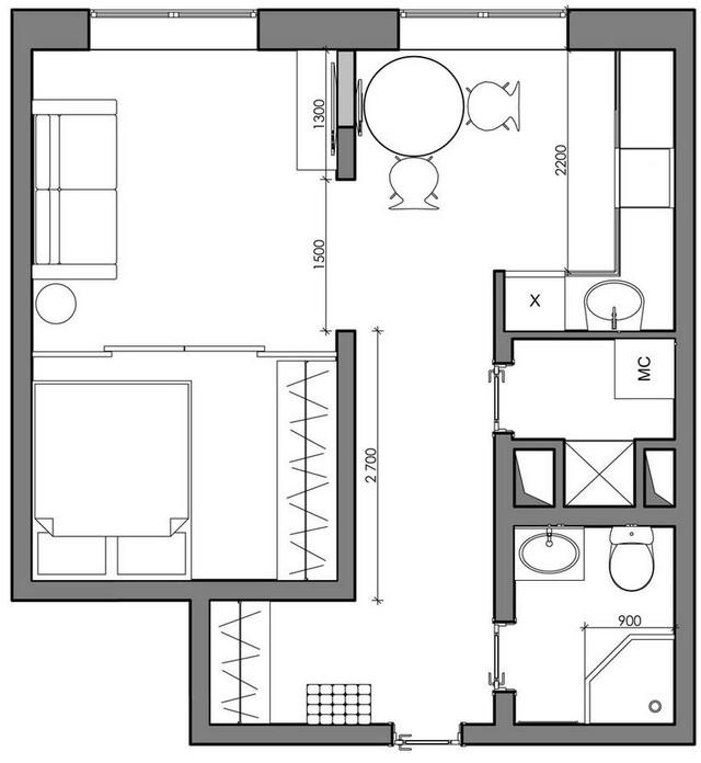 Say đắm ngắm căn hộ 41m2 đẹp hoàn hảo - Ảnh 12.