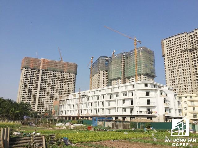 Gelexia Riverside có tiến độ xây dựng khá nhanh sau hơn 1 năm khởi công.