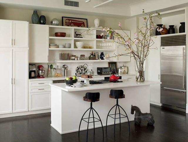 Những tủ bếp đơn giản nhưng khiến không gian bếp đẹp và sang đến không ngờ - Ảnh 4.