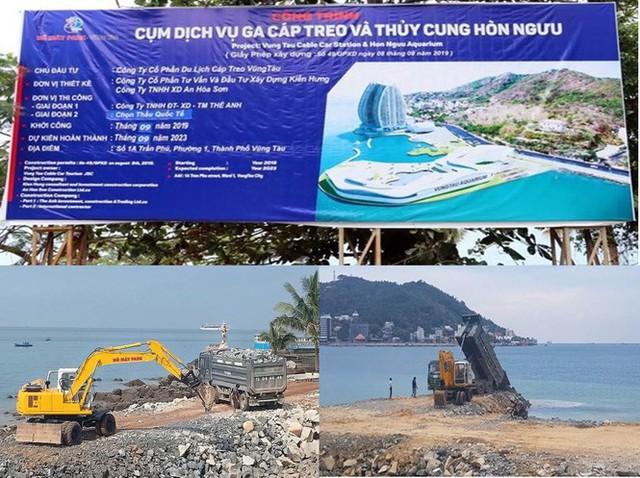 Tạm ngừng dự án lấp biển làm thủy cung ở TP Vũng Tàu - Ảnh 1.