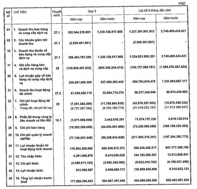 Nam Long (NLG): Lãi sau thuế 9 tháng giảm 40%  về 447 tỷ đồng, đạt 47% kế hoạch năm - Ảnh 1.