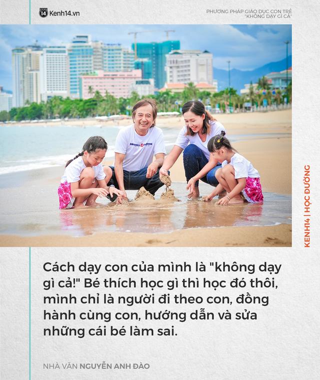 Phương pháp dạy con không dạy gì cả của nhà văn Nguyễn Anh Đào nhưng kết quả lại khiến nhiều người bất ngờ - Ảnh 1.