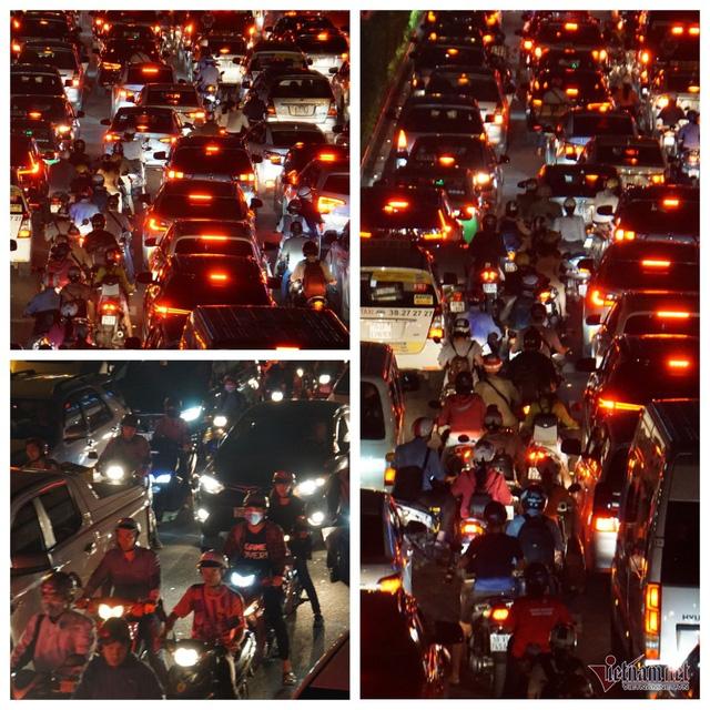 Cửa ngõ Tân Sơn Nhất tê liệt, ngàn ô tô dàn hàng kín đặc đường - Ảnh 14.