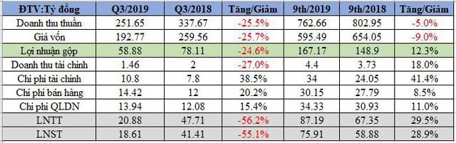 Thủy sản Camimex (CMX): Lãi quý 3 đi lùi, giảm hơn 1 nửa so với cùng kỳ - Ảnh 1.
