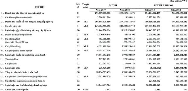 Cấp nước Chợ Lớn (CLW): 9 tháng lãi 31 tỷ đồng vượt 109% kế hoạch cả năm 2019 - Ảnh 1.