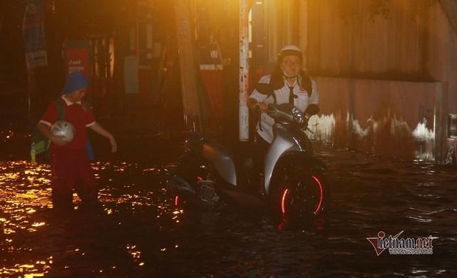 Triều cường ngấp nghé đỉnh, khu nhà giàu Sài Gòn dập dềnh sông nước - Ảnh 11.  Triều cường ngấp nghé đỉnh, khu nhà giàu Sài Gòn dập dềnh sông nước photo 9 1572271017021941341280