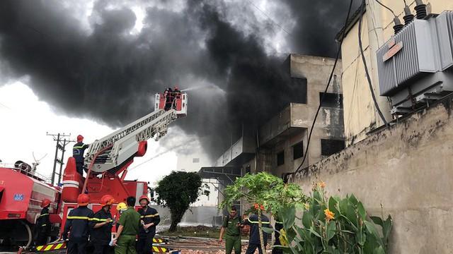 Cháy dữ dội xưởng mút xốp vùng ven TP.HCM - Ảnh 2.
