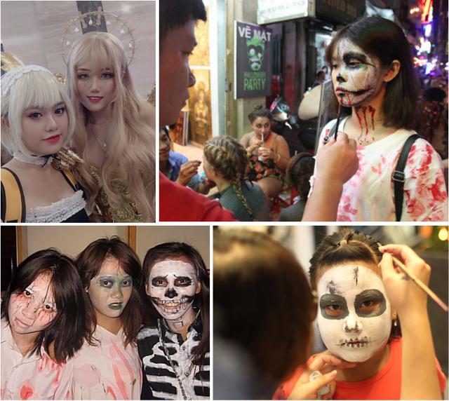 """""""Chạy sô"""" vẽ mặt Halloween, càng kinh dị càng kiếm bộn tiền - Ảnh 1."""