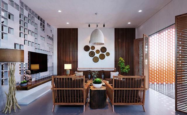 Ngôi nhà gây ấn tượng nhờ sử dụng nội thất gỗ mộc mạc - Ảnh 3.