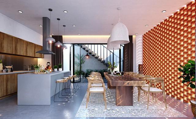 Ngôi nhà gây ấn tượng nhờ sử dụng nội thất gỗ mộc mạc - Ảnh 4.