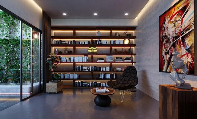 Ngôi nhà gây ấn tượng nhờ sử dụng nội thất gỗ mộc mạc - Ảnh 8.