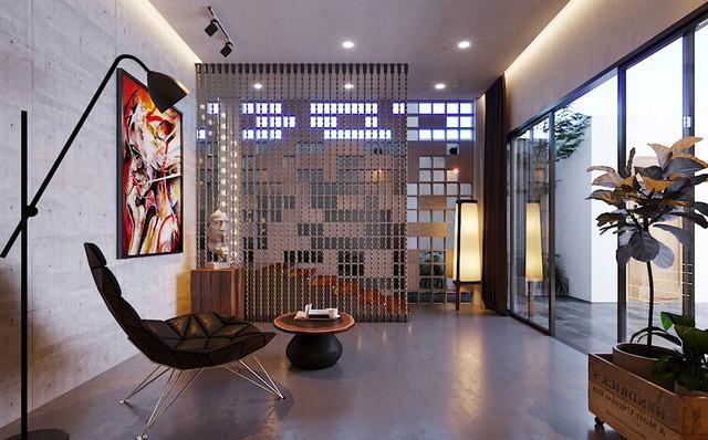 Ngôi nhà gây ấn tượng nhờ sử dụng nội thất gỗ mộc mạc - Ảnh 9.